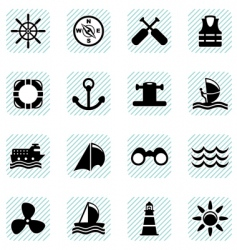 sailing icons set vector image