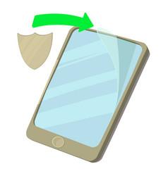 Screen protect icon cartoon style vector