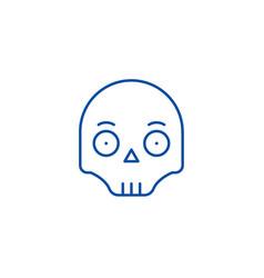 scull emoji line icon concept scull emoji flat vector image