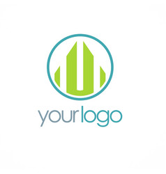 shape building business logo vector image