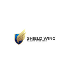 shield wing template vector image