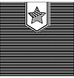 silhouette pattern with insignia stars and several vector image