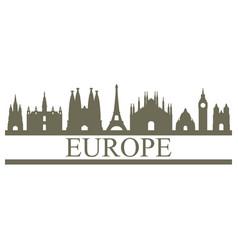 Skyline europe vector