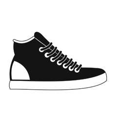 Sneakers black simple icon vector image