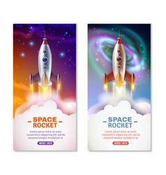 space rocket vertical banners vector image