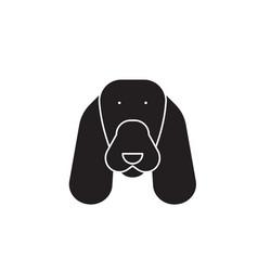 spaniel black concept icon spaniel flat vector image