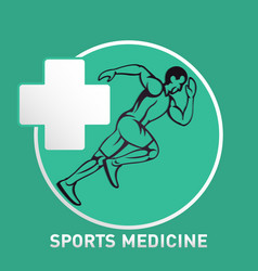 Sports medicine logo icon design vector