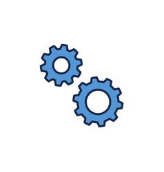 spur gear concept blue icon vector image