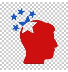 Stars Hit Head Icon vector