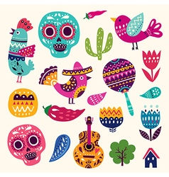 Symbols of Mexico vector image