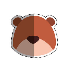 Teddy bear cartoon infantile head faceless vector