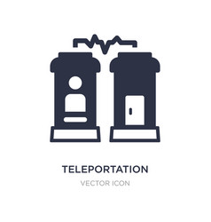 Teleportation icon on white background simple vector