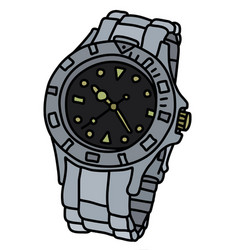 The sports waterproof wrist watch vector