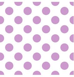 Tile pattern with big pastel lavender violet polka vector