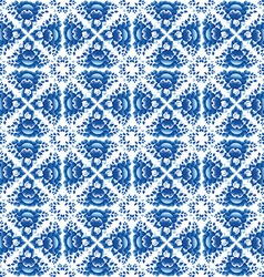Vintage shabby chic seamless pattern with blue vector