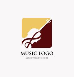 violin cello logo design inspiration classic vector image
