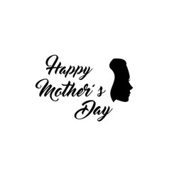 Woman s silhouette mothers day greeting card vector