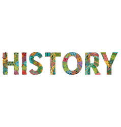 Word history entangle object vector
