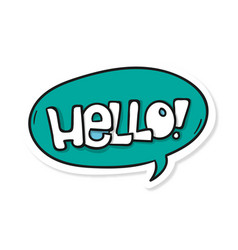 Word text blue hello image vector