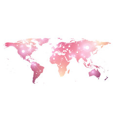 World map geometric graphic background vector