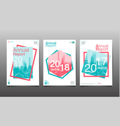 annual report 201720182019 template layout vector image