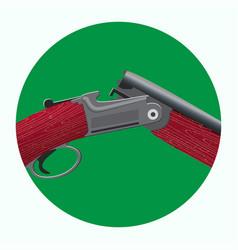 hunting shotgun icon vector image