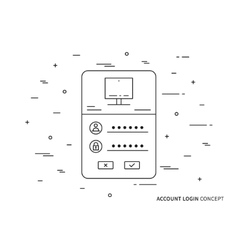 Log in page vector image