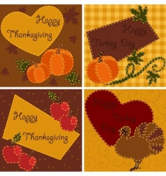 Quilted cards vector