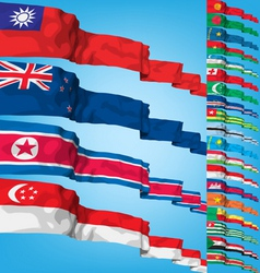 set 2 of world flags vector image