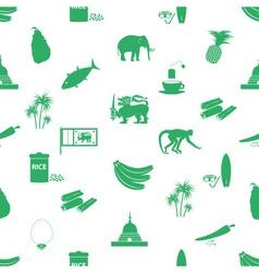 Sri-lanka country symbols seamless green pattern vector