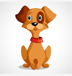 with a little yellow dog vector image