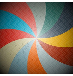 Abstract Retro Spiral Background vector image vector image