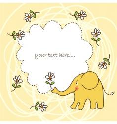 baby greeting card vector image