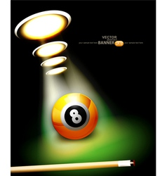 bilbackground with a billiard ball vector image