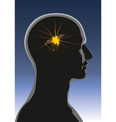 Mental health Headache vector image vector image