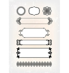 set of abstract antique pattern vector image