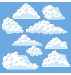 Cartoon Clouds on The Blue Sky vector image