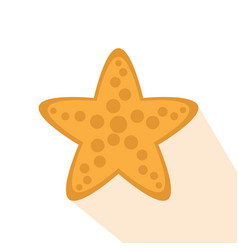 isolated starfish icon vector image vector image