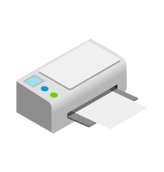 Printer icon cartoon style vector image