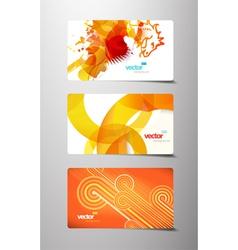splash gift cards vector image