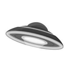UFO icon in monochrome style isolated on white vector image