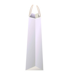 white paper shopping bag of avarege size side view vector image