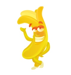 Banana Cute fruit character isolated on white vector image vector image