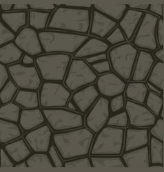 cartoon gray stone seamless background texture vector image vector image
