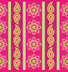 ethnic striped pattern with paisley vector image vector image
