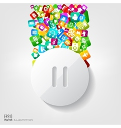 Pause button icon Application buttonSocial media vector image