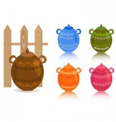 rustic glassware vector image vector image