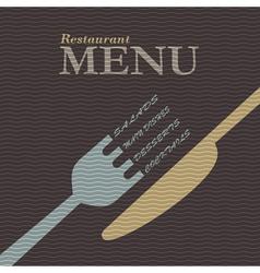Stylish restaurant menu design vector image