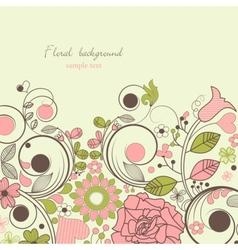 vintage floral festive frame vector image