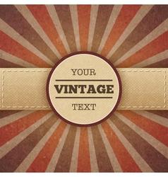 Vintage sunburst promo poster vector image vector image